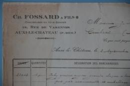 FACTURES 62 PAS-DE-CALAIS AUXI-LE-CHATEAU  FABRIQUE Ou COMMERCE EN GROS DE CHAUSSURES FOSSARD ANNEE 1920 - Textile & Vestimentaire