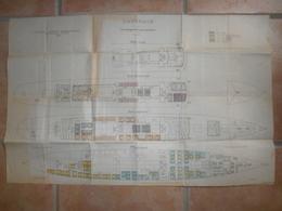 Plan Du Paquebot Carthage De La Compagnie Générale Transatlantique Juin 1910 - Bateaux