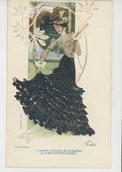 FEMMES - FRAU - LADY - ARTISTES 1900 - Jolie Carte Fantaisie ART NOUVEAU De CAVALIERI , Carte PUB Pour CHAUSSURES RAOUL - Femmes