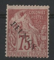 REUNION / COLONIES N° 27 * (MH) Cote 750 € 75ct Rose Type Groupe Allégorique Surchargé REUNION. Une Dent Courte En Haut - Ongebruikt
