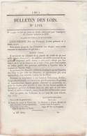 Bulletin Des Lois 1194 De 1845 Construction 6 Paquebots Marseille Alexandrie - Police Pointe De Grave Lorient Langogne - Décrets & Lois