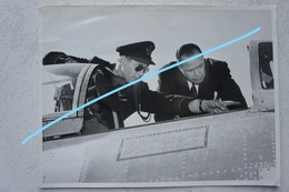 Photo FLORENNES Lt Colonel CUSTERS US Ambassador Alger 1953 Force Aérienne Belgische Luchtmacht Aviation - Luftfahrt