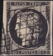 France         .    Yvert       .        3      .       Oblitéré - 1849-1850 Cérès