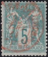 France    .    Yvert  .    64          .   O      .        Oblitéré - 1876-1878 Sage (Type I)