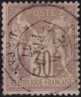 France    .    Yvert  .    69          .   O      .        Oblitéré - 1876-1878 Sage (Type I)