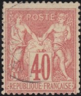 France    .    Yvert  .    70          .   O      .        Oblitéré - 1876-1878 Sage (Type I)