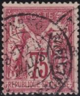 France    .    Yvert  .    71          .   O      .        Oblitéré - 1876-1878 Sage (Type I)