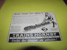 TRAINS HORNBY - PUBLICITE DE 1933 - Publicités