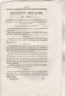 Bulletin Des Lois 1195 De 1845 - 50 Brevets Invention : 2 Bière Barault, 5 Dissolution Or, 13 Télégraphe Hydraulique Etc - Décrets & Lois