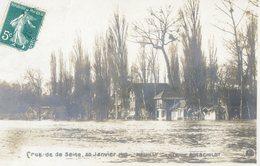576D...NEUILLY - L'ILE DE ROTSCHILDT - Crue De La Seine, 30 Janvier 1910 (carte-photo) - Neuilly Sur Seine