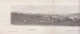 CARTOLINA ( IN TRE PARTI) - PERUGIA - PANORAMA GENERALE DA SUD - OVEST - VIAGGIATA  - Cm.43x9,2 . RARA !!! - Perugia