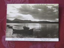 "Greece 1963 Postcard ""Poros Sunset - Boat"" To Belgium - Knossos Temple - Greece"
