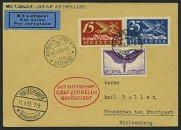 ZULEITUNGSPOST 127 BRIEF, Schweiz: 1931, Fahrt Nach Zürich, Prachtkarte - Zeppelins