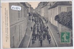 MONTLHERY- INSTITUTION  RESVE & GROS- DEPART POUR UNE PROMENADE EN MUSIQUE- 21 JUIN 1907 - Montlhery