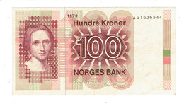 BILLET NORVEGE - 100 KRONER - COURONNES NORVEGIENNES - AG1636544 - 1979 - Norvège