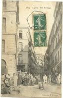 AFRIQUE ALGERIE ALGER RUE MARENGO ANIMATION A VOIR - Algiers