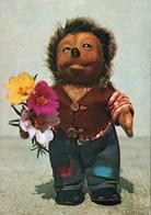 CPSM Double Volet Enfant - 1960 Mecki Au Bouquet De Fleur Pour Sa Fiancée - Herisson, Hedgehog , Igel Humanisé - Mecki