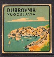 1930s YUGOSLAVIA, CROATIA, DUBROVNIK TOWN, CITY, BAGGAGE LABEL, 6 X 6 Cm - Hotel Labels