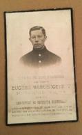Carte Souvenir Décès Soldat Eugeen Vandergeynot - Tombé Au Champs D'honneur Le 29 Juin 1915 à Dixmude - Imp. Hylebos - 1914-18