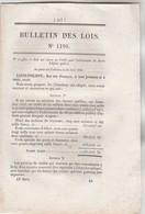 Bulletin Des Lois 1198 De 1845 - Cession 57 Brevets Invention : 14 Raffinage Sucre,  Etc - Décrets & Lois