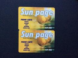 2 CARTES PREPAYEES  STARGSM  *7,50e *7,50€  Sun Page  4826 - France