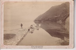 AIX LES BAINS LE LAC DU BOURGET   FRANCE  16*10CM CABINET PHOTOGRAPHS - Photos