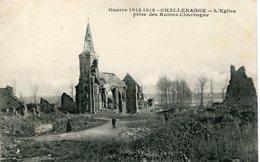 CHALLERANGE. L'église Prise Des Ruines Charbogne - Francia