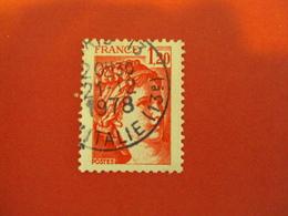 """70-79 Sabine De Gandon  Oblitéré  N° 1974  -  """" 1.20 Rouge """"     Net   0.50   Photo    3 - 1977-81 Sabine De Gandon"""