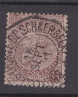 N° 49  Défauts   TELEGRAPHIQUE BRUXELLES Porte De Schaerbeek - 1884-1891 Leopoldo II