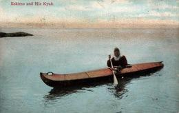 Eskimo And His Kyak, Esquimau Et Son Kayak (Alaska) - Lowman & Hanford Co. N° 5083 - Amérique