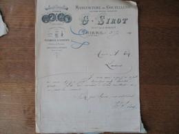 THIERS  G. SIROT MANUFACTURE DE COUTELLERIE ANCIENNE MAISON JACQUETON COURRIER DU 5 JUIN 1914 - 1900 – 1949