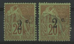 REUNION / COLONIES N° 42a * (MH) + 45b Oblitéré. Cote 38 € - Ongebruikt
