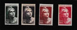 FRANCE - La SÉRIE N° 730 / 733 - N** - Valeur Catalogue : 21.50 € - 1945-54 Marianne De Gandon