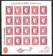 FRANCE F4871 Neuf** BLOC CÉRÈS SALON DU TIMBRE 2014 . - Francia
