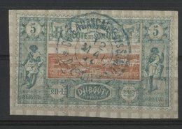 COTE DES SOMALIS / COLONIES N° 9 Oblitéré. 5ct Vert Et Rouge-orange. Cote 8 €. TB - Oblitérés
