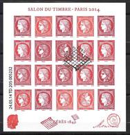 FRANCE F4871 Oblitéré FDC Premier Jour BLOC CÉRÈS SALON DU TIMBRE 2014 . - Oblitérés