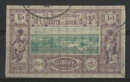 COTE DES SOMALIS / COLONIES N° 11 Oblitéré. 15ct Violet Et Vert. Cote 11 €. TB - Oblitérés