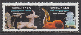 2012 Guatemala Museums Ancient Figurines  Complete Pair MNH - Guatemala