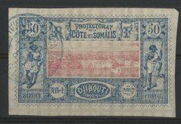 COTE DES SOMALIS / COLONIES N° 15 Oblitéré. 50ct Bleu Et Rose. Cote 21 €. TB - Oblitérés