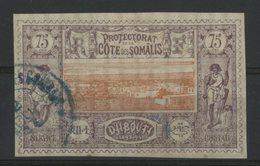 COTE DES SOMALIS / COLONIES N° 16 Oblitéré. 75ct Violet-brun Et Orange. Cote 44 €. TB - Oblitérés