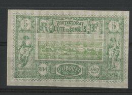 COTE DES SOMALIS / COLONIES Cote 14 €. N° 27 5ct Vert Et Vert-jaune Neuf * (MH). TB - Côte Française Des Somalis (1894-1967)