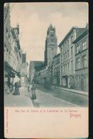 BRUGGE  RUE SUD DU SABLON ET LA CATHEDRALE DU ST.SAVEUR - Brugge