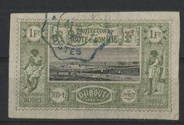 COTE DES SOMALIS / COLONIES Cote 21 €. N° 17 1Fr Vert-olive Et Noir. Oblitéré. TB - Oblitérés