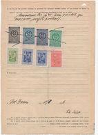 1956 YUGOSLAVIA, SLOVENIA, 4 OLO POSTOJNA MUNICIPALITY REVENUE STAMPS + 6 YU STATE REVENUE - Slovenia