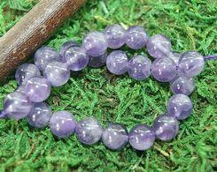 Perles En Améthyste Pour Collier Ou Bracelet En 6, 8 Et 10 Mm - Améthyste