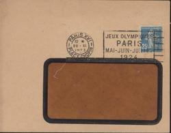 Enveloppe Avec Flamme Jeux Olympiques Paris Mai Juin Juillet 1924 YT 140 25ct Bleu Perforé LN Ets Nozal Ancoper LN 102 - Mechanische Stempels (reclame)