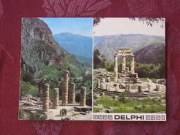 """Greece 1971 Postcard """"Delphi"""" To England - Ships - Greece"""