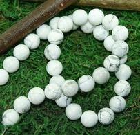 Perles En Howlite Pour Collier Ou Bracelet, 6, 8 Et 10 Mm - Joyas & Relojería