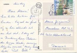 Mi 1710 Solo Postcard / Enid Blyton / Tower Of London - 17 September 1997 West London To Denmark - 1952-.... (Elizabeth II)