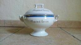 RARE- MAGUINAT ROSEROY - SOUPIERE ANCIENNE (début XXe) En Porcelaine - Liseré Bleu Et Doré - Soup Terrines